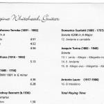 Georgina Whitehead - Solo Guitar CD - Track Listing